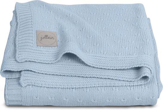 Jollein Soft knit Deken 75x100cm soft blue