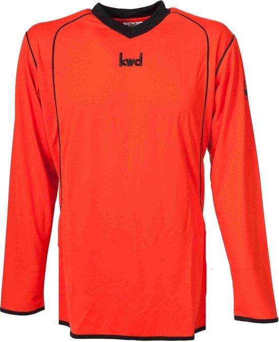 KWD Sportshirt Victoria - Voetbalshirt - Volwassenen - Maat XL - Oranje/Zwart