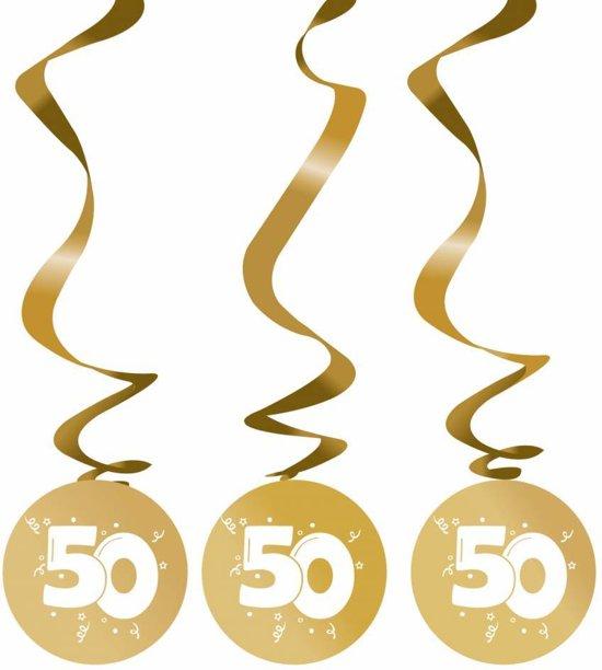Hangdecoratie 50 jaar goud versiering 75cm 3 for Versiering goud