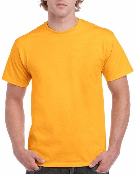 Donkergeel katoenen shirt voor volwassenen L (40/52)