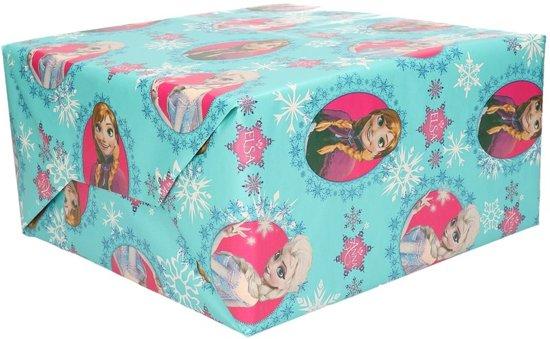Bedwelming bol.com | Inpakpapier Frozen blauw op rol - 200 x 70 cm @FT16