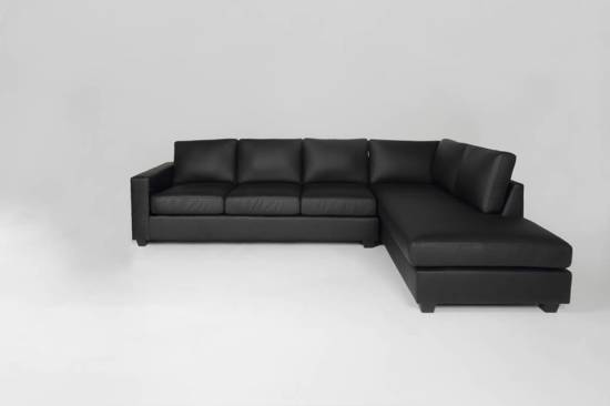 Bol.com fyn dustin hoekbank met hocker rechts bonded leather