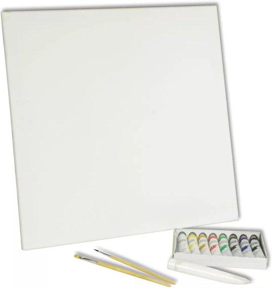 Canvas 40x40 - Acryl Verfkwasten / Verf Set -15 Delig