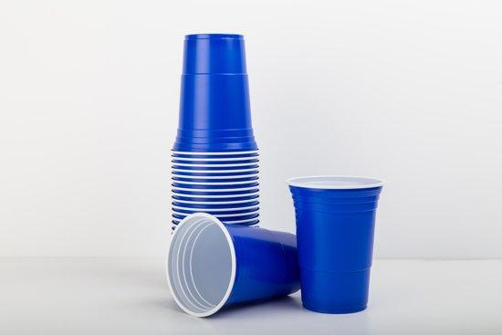 Pink Cups Plastic 473ml 25 stuks