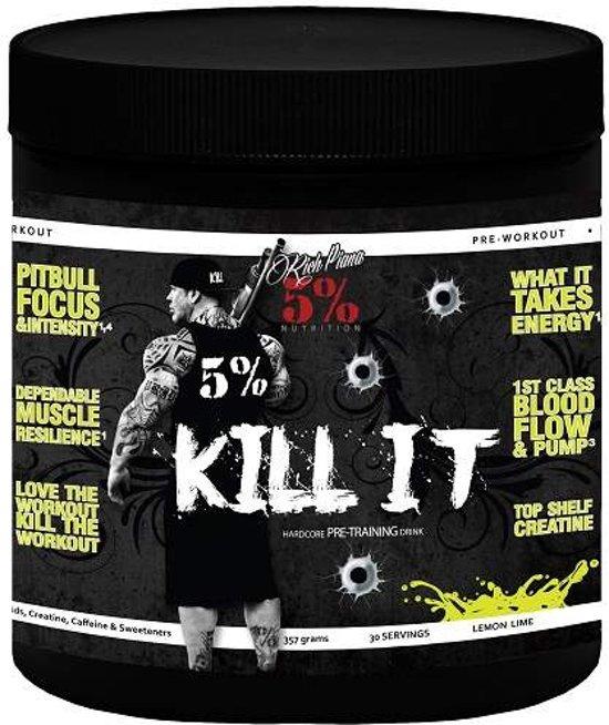5% Nutrition Rich Piana Kill It Pre-Workout - 357 gram - Lemon Lime