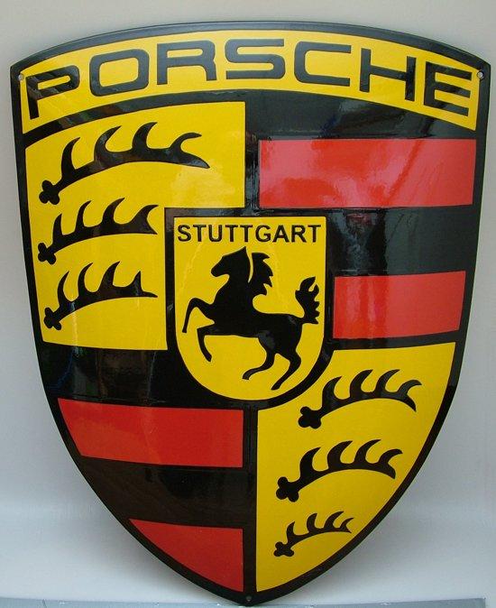 Bol Porsche Reclame Schild Emaille Groot Reclamebord