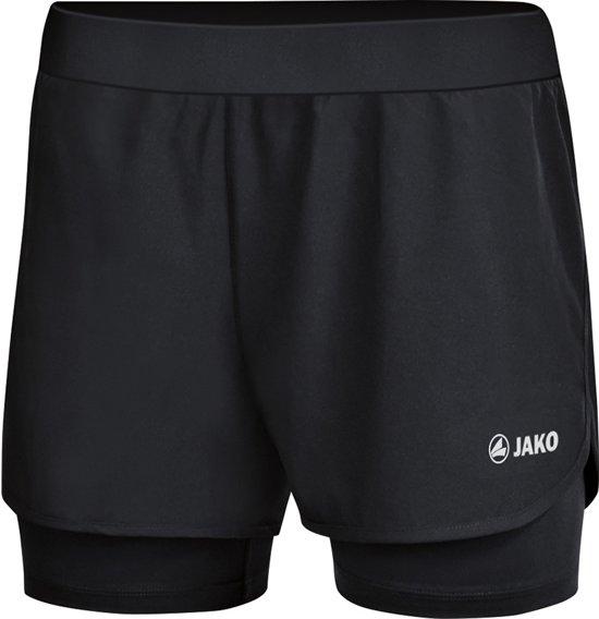 Jako 2-in-1 Dames Short - Shorts  - zwart - 34