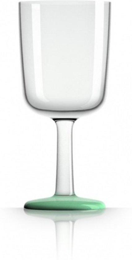 Palm - Wijn glas - Onbreekbaar Tritan - groen glow - per stuk