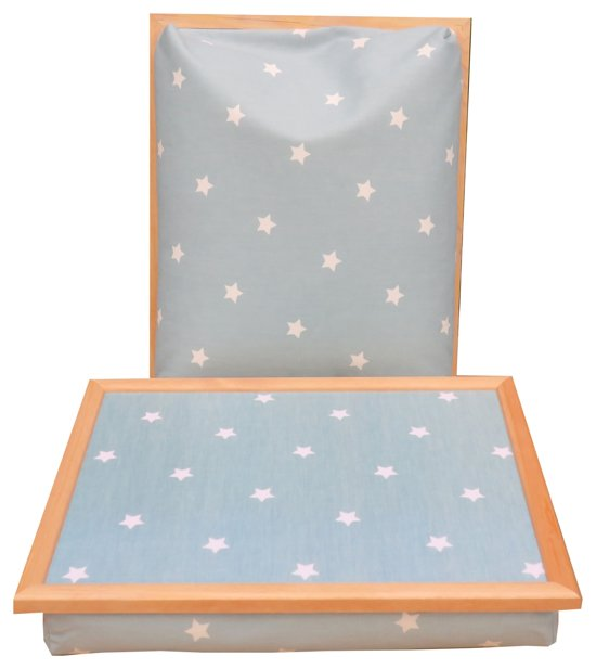 Margot Steel laptray/schoottafel Lightblue Star - 41 x 31 10 cm