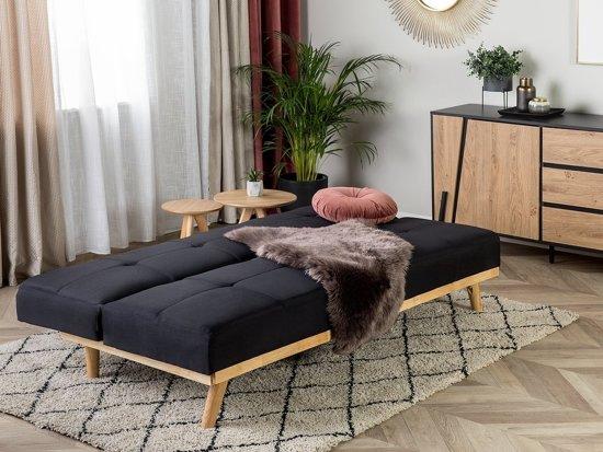 Beliani Froya Slaapbank Zwart Stof 183x100