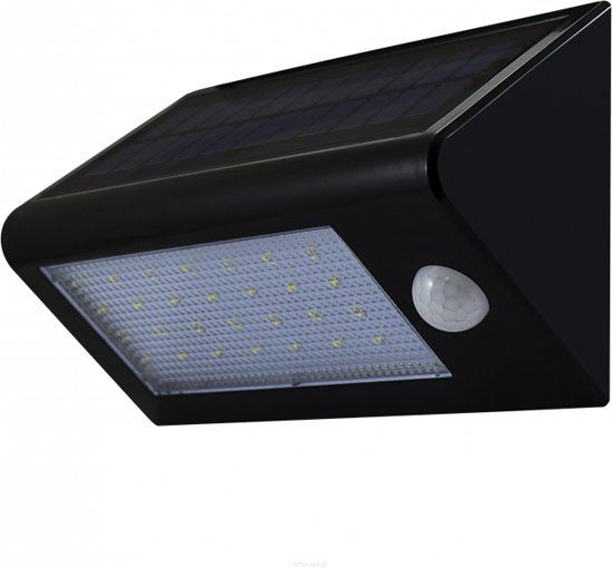 solar buitenlamp led 6400k 400lm polux buiten verlichting bewegingssensor