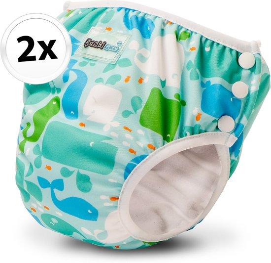 Bambinex wasbare zwemluier en oefenbroekje - 2 stuks - Moby - maat S