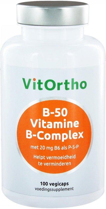 VitOrtho B-50 Vitamine B-complex 100 vegicaps