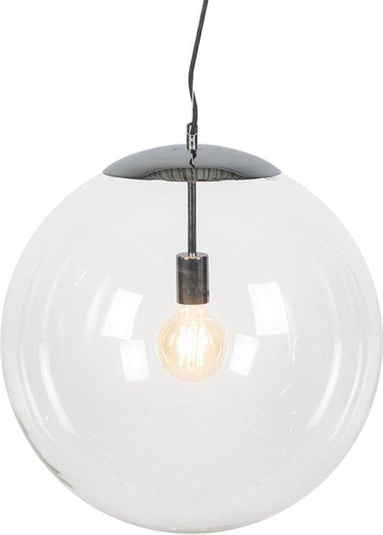 QAZQA Ball 50 - Hanglamp - 1 Lichts - chroom