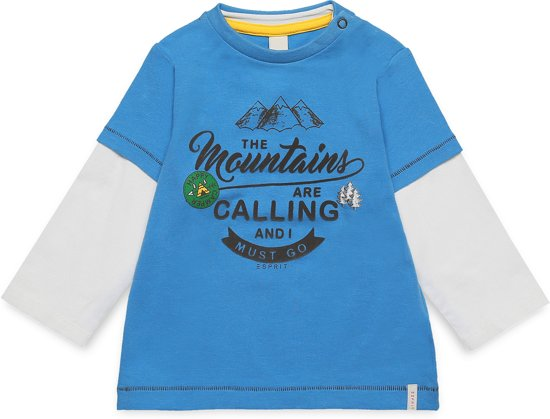 Esprit Jongens T-shirt - blauw - Maat 80