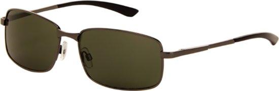 Polarized zonnebril zilver met groen glas