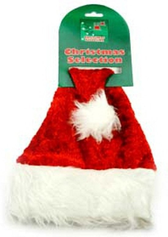 Luxe kerstmuts voor honden of katten - 40 cm