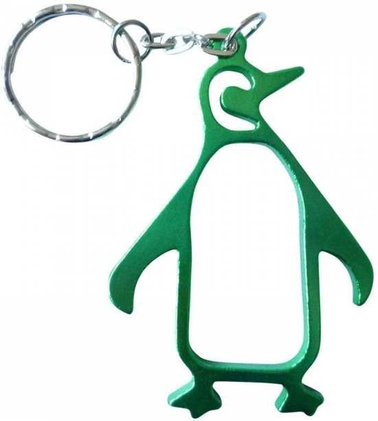 Sleutelhanger Pinguin / Pinguïn Groen - Flesopener van metaal