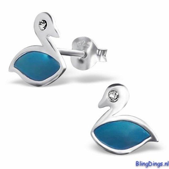 Kinderoorbellen zwaan blauw|blingdings