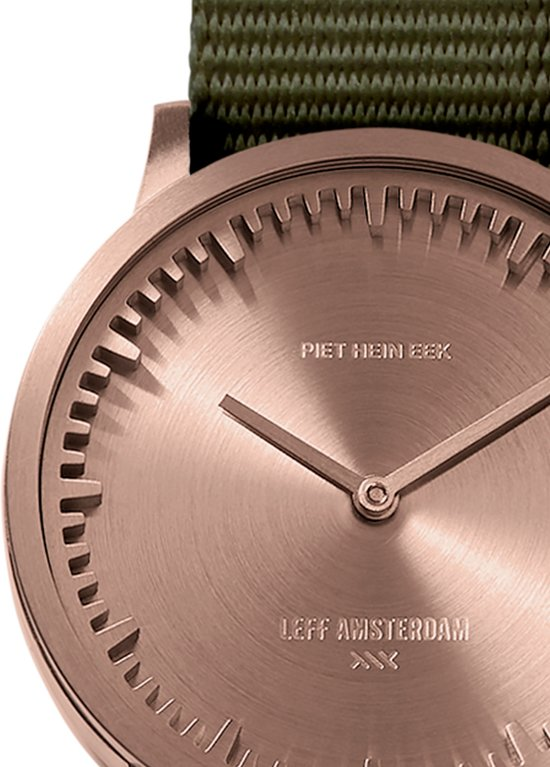 Tube watch T32 rose gold / green nato strap