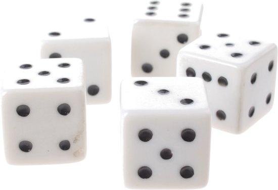 Afbeelding van het spel Eddy Toys Xl Dobbelstenen Wit 2 X 2 Cm 5 Stuks