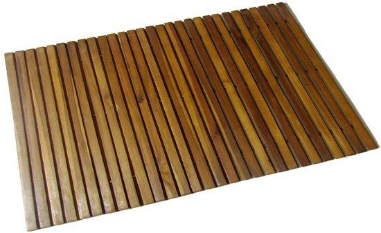 vidaXL Badmat acaciahout 80 x 50 cm