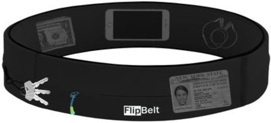 Flipbelt - Zipper - Running belt - Hardloop belt - Hardloop riem - Zwart - M
