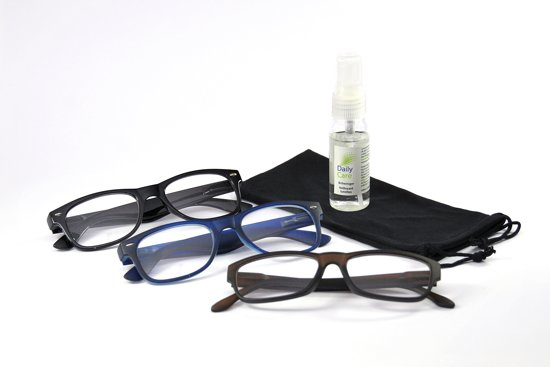 Combi 3 leesbrillen stijlvol +1.00