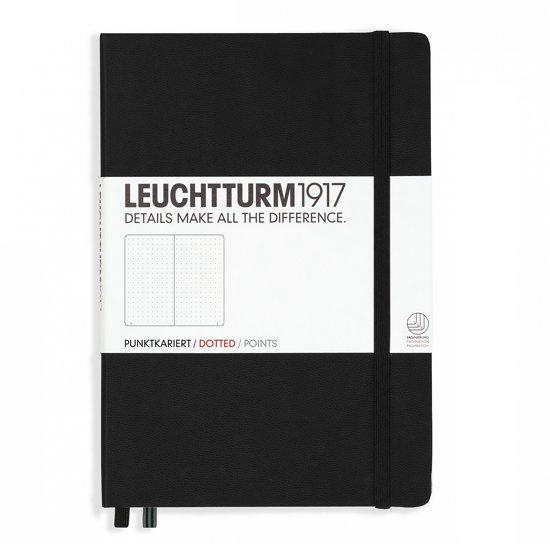 Leuchtturm1917 Notitieboek Zwart - Medium - Puntjes