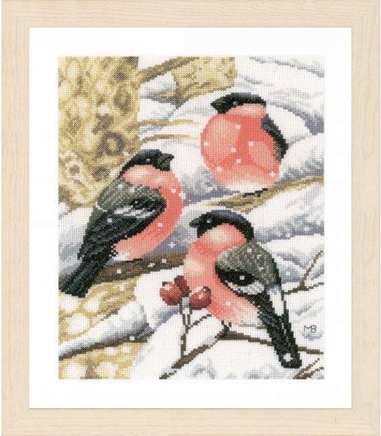 borduurpakket PN0169675 marjolein bastin, vinken in sneeuw