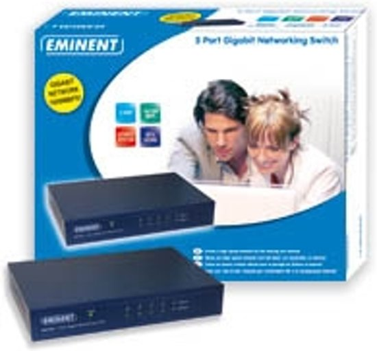 Eminent EM4440 5 Port Gigabit Networking Switch Onbeheerde netwerkswitch