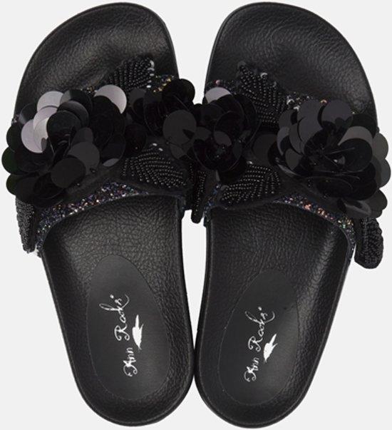   Ann Rocks Dames Sandalen Zwart Maat 41