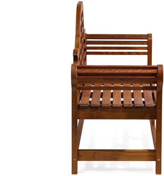 Beliani Tuinbank hout 180 cm met lichtblauw kussen TOSCANA MARLBORO