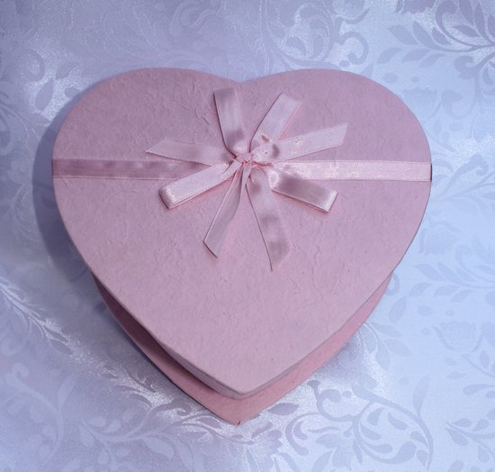 Geschenkdoos hart roze - cadeaudoos - kadodoos