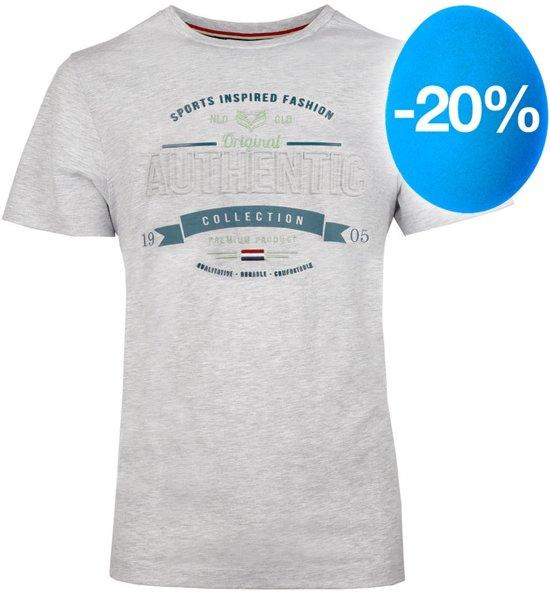 Heren T-shirt Domburg  -  Lichtgrijs