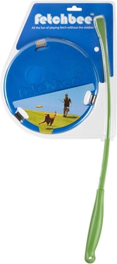 Fetchbee Frisbee met werpstok - Blauw