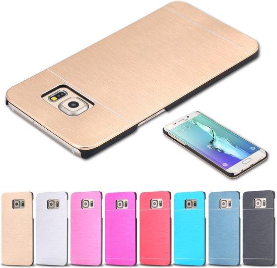 Rose En Aluminium Brossé Couverture Étui Rigide Pour Samsung Galaxy S6 GET1VDV