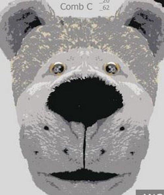 Dierenpantoffel Hond grijs Maat 41/42