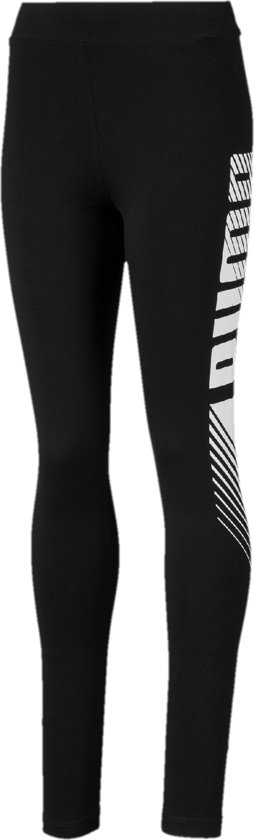 PUMA ESS Graphic Leggings G Meisjes Sportlegging - Puma Black - Maat 128