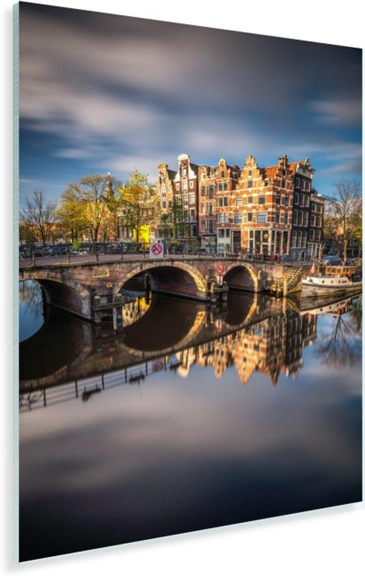 Typische herfstimpressie van de Prinsengracht in Amsterdam Plexiglas 120x180 cm - Foto print op Glas (Plexiglas wanddecoratie) XXL / Groot formaat!