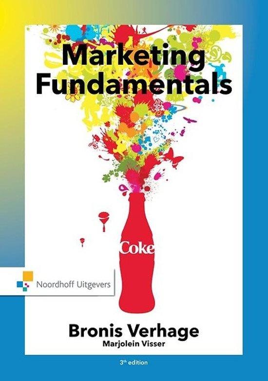 Boek cover Marketing fundamentals, an international perspective van Bronis Verhage (Hardcover)