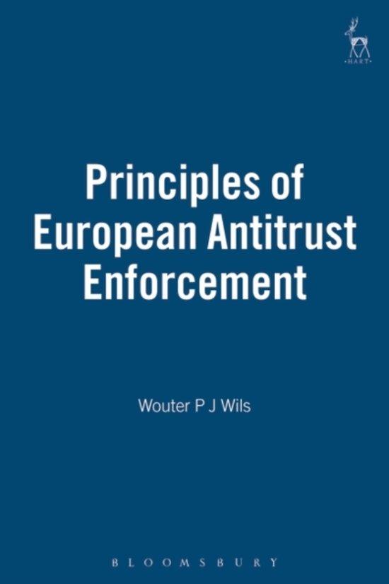 Boek cover Principles of European Antitrust Enforcement van Wouter P.J. Wils (Hardcover)