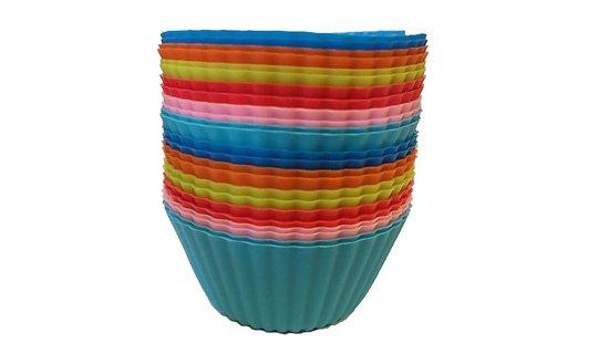 Cupcakes Bakvorm - Multicolor - Siliconen - 24 stuks