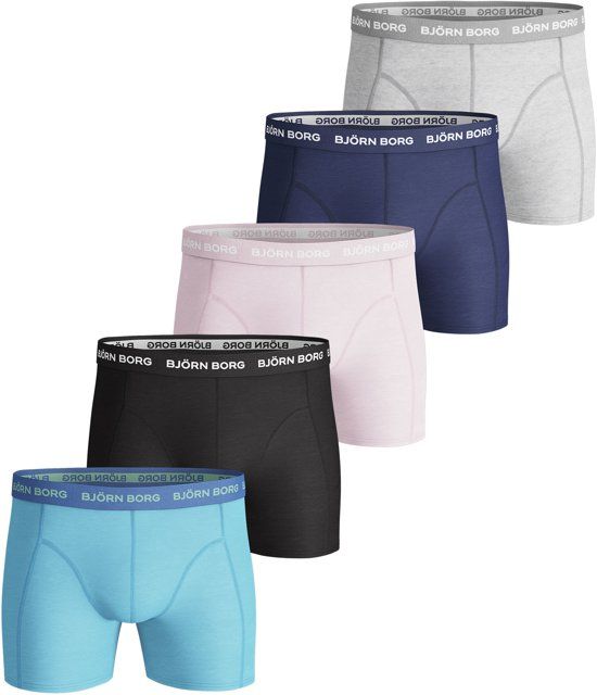 a84153c05a0 bol.com | Björn Borg Boxers Seasonal Solids Essential 5-pack Heren ...