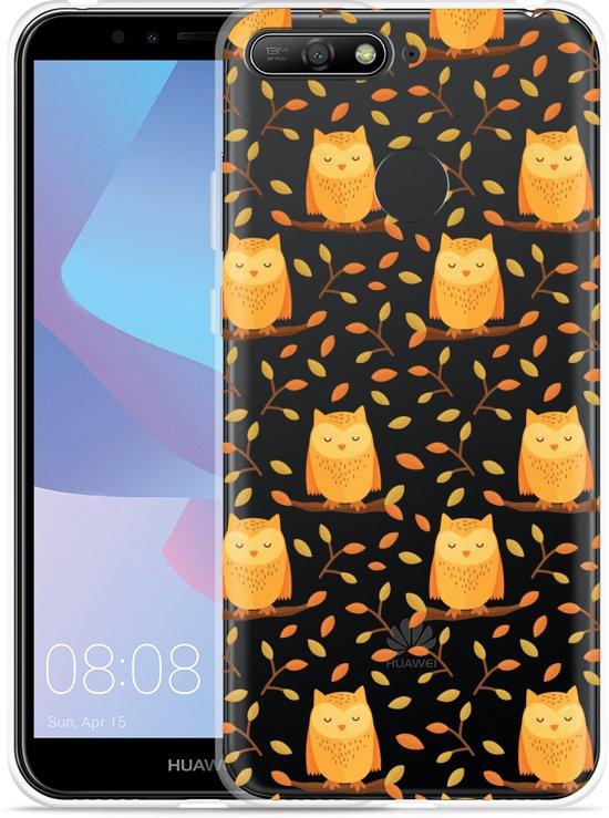 Huawei Y6 2018 Hoesje Cute Owls