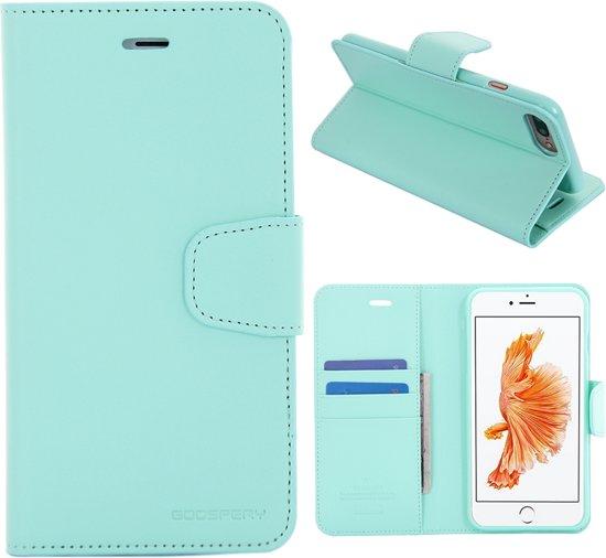 iPhone 7 Plus Bookcase Hoesje - Portemonnee Hoesje - Telefoonhoesje - Cover - Bookstyle Hoesje - Booktype Hoesje - Klap Hoesje - Flip Cover - Smartphonehoesje - Wallet Hoesje - Boek Hoesje - Book Case - Portefeuille Hoesje - Case - Bookstyle Case - Hoes - Beschermhoesje - Wallet Case - Mercury Diary - Cyaan in Jurbise