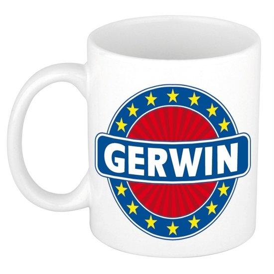 Gerwin naam koffie mok / beker 300 ml  - namen mokken