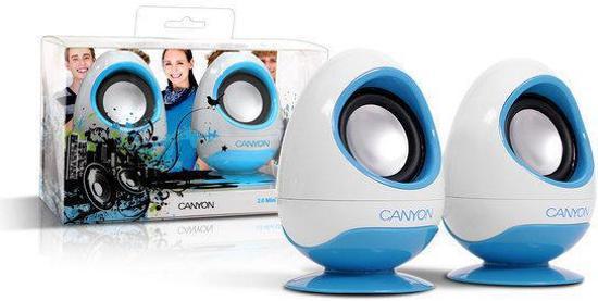Canyon USB luidspreker - Blauw - Stereo - Eivorm - Mini