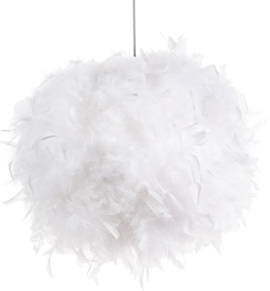 bol hanglamp goose no 1 witte veren woonkamer kantoor hal à 55cm