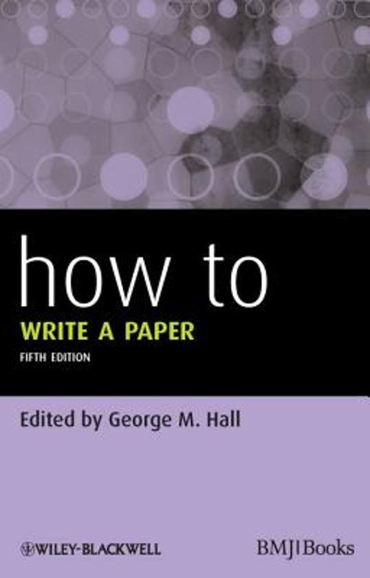 how do i write a paper
